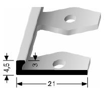 Einfach biegbares Abschlussprofil (301)