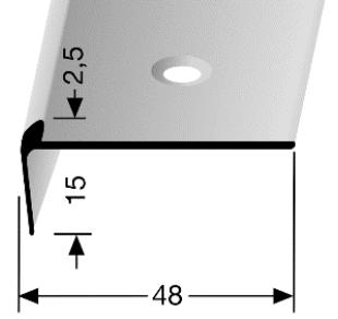 Treppenkantenprofil (859) versenkt gebohrt