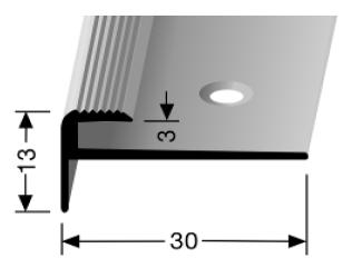 Treppenkantenprofil (809) versenkt gebohrt