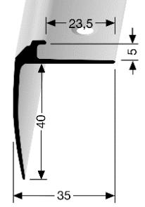 Treppenkantenprofil (852) versenkt gebohrt