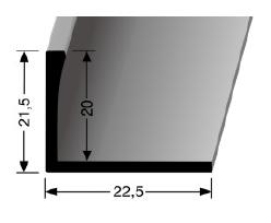 Abschlussprofil (313U) ungestanzt