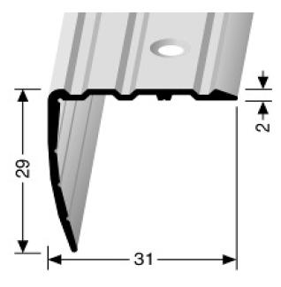 Winkelprofil (535) versenkt gebohrt