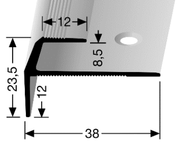 Treppenkantenprofil (857) versenkt gebohrt