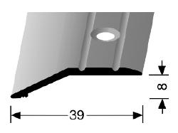 Abschluss- /Anpassungsprofil (244) versenkt gebohrt