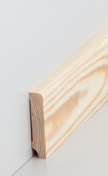Massivholz-Sockelleiste Kiefer 13 mm Stark, abgerundet