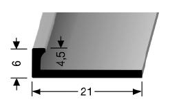 Abschlussprofil (302U) ungestanzt