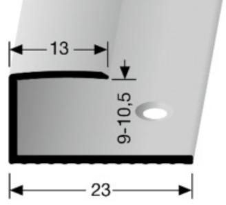 Einschubprofil (012) versenkt gebohrt