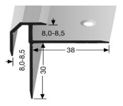 Treppenkantenprofil (838) versenkt gebohrt