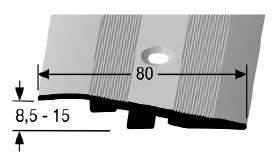 Rampenprofil (268) versenkt gebohrt