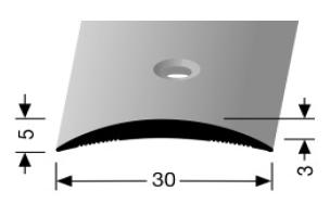Übergangsprofil (460) versenkt gebohrt