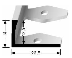 Einfach biegbares Abschlussprofil (305)