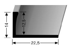 Abschlussprofil (305U) ungestanzt