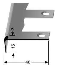 Biegbares Treppenkantenprofil (860EB)