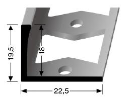 Doppel-K Profil (312G) gestanzt