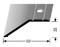 Abschluss-/ Anpassungsprofil (245) versenkt gebohrt