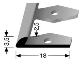 Einfach biegbares Abschlussprofil (356EB)
